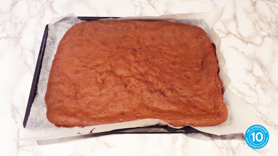 yule log recipe - Bake for 20 minutes