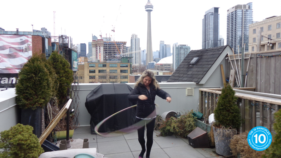 Kelly with hula hoop