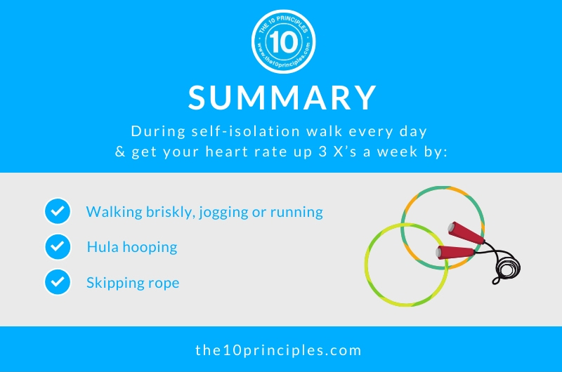 exercise during self-isolation - summary