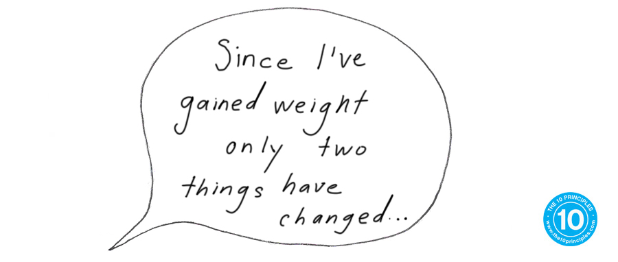 Since I've gained weight only two things have changed...