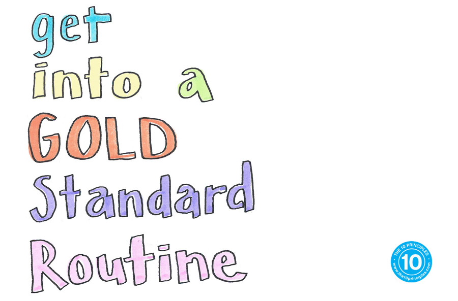 Stop dieting & get into a GOLD Standard Routine