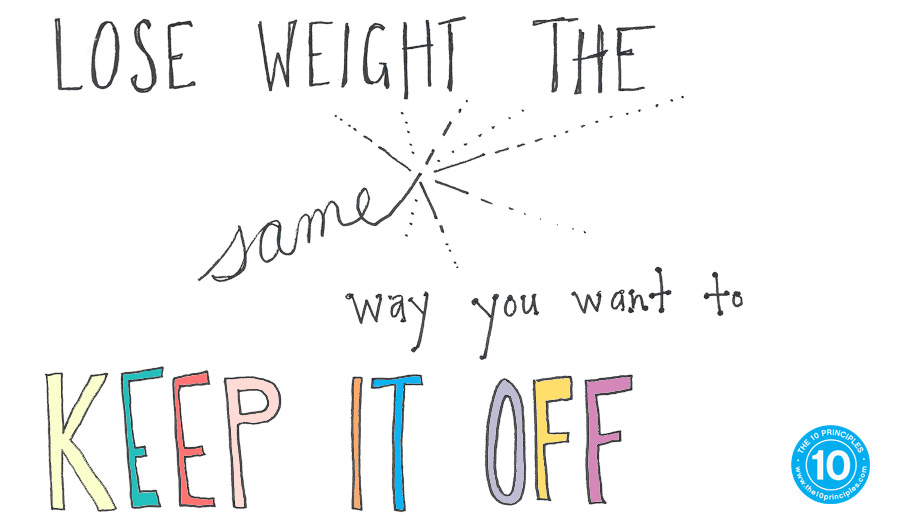 Lose weight the same way you want to keep it off