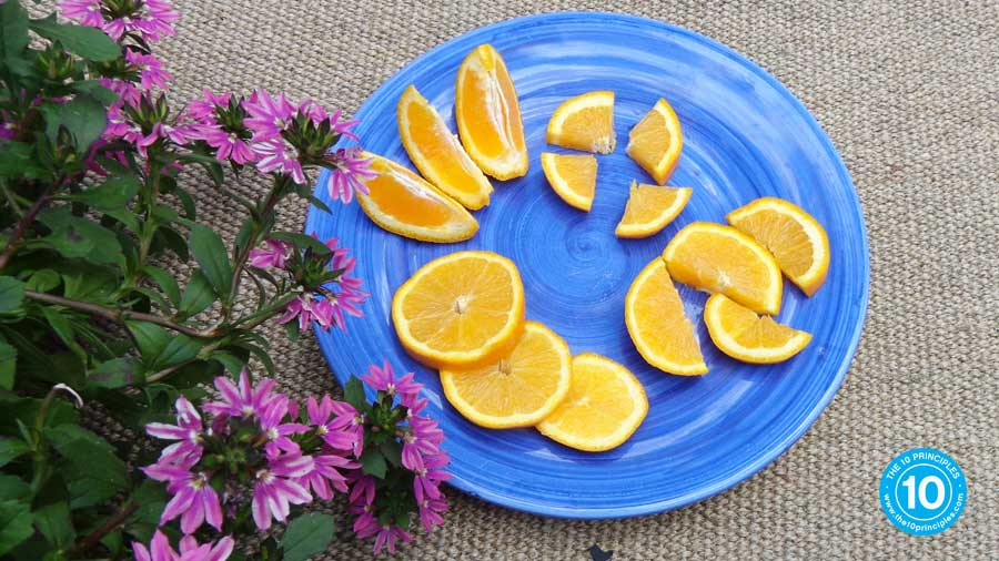 If you don't like peeling an orange, just cut it up into segments, slices or spearheads