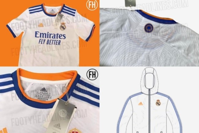 The official 2021-22 Home Kit for Real Madrid leaked