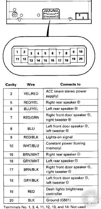 96 98 honda civic radio wiring diagram  wiring diagrams 2
