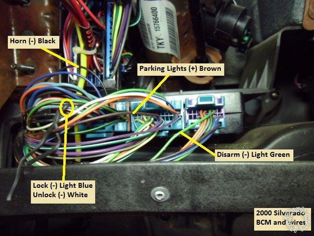 19992002 silverado remote start w/keyless pictorial
