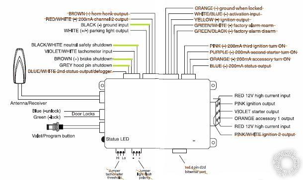 avital 4103 remote start wiring diagram installation  05