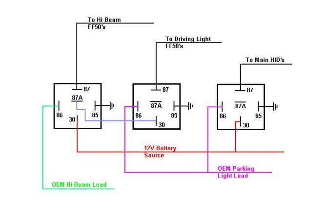 relay wiring lights