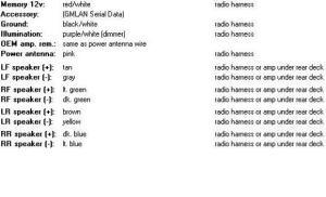 2007 chevy impala stock radio wiring