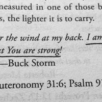 I am Weak, But You Are Strong...