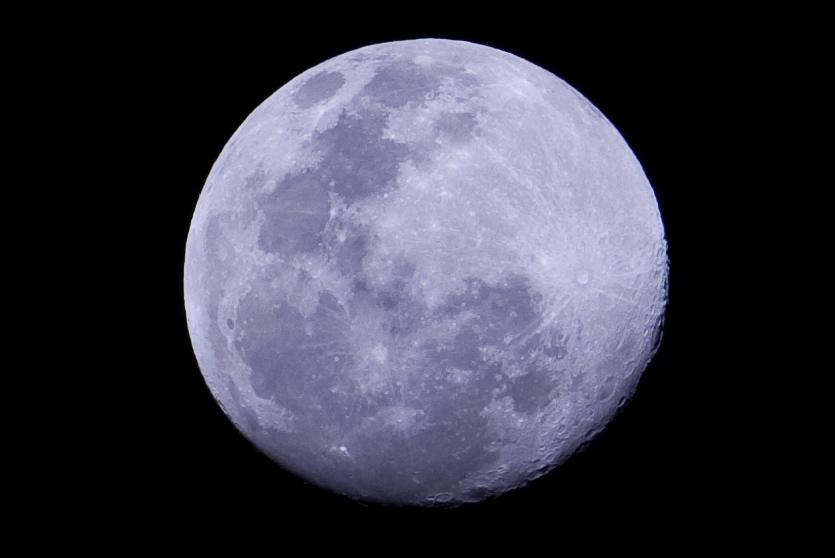 telescopic image of the moon
