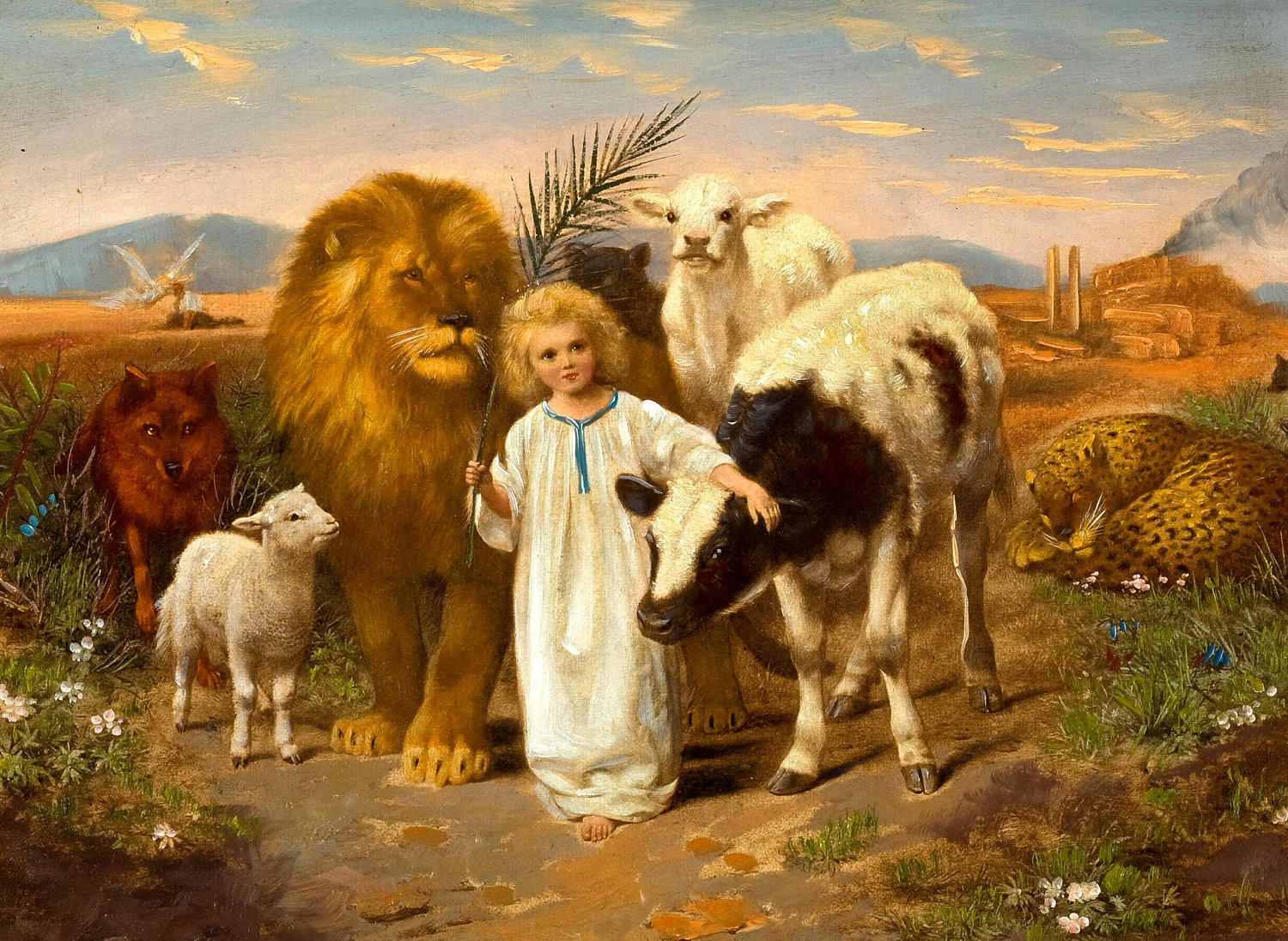 Image result for lion and lamb led by child