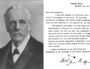 Lord Balfour and the Declaration he wrote as a letter to Lord Rothschild.