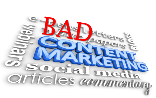 Bad content are reasons unhappy customers lose trust