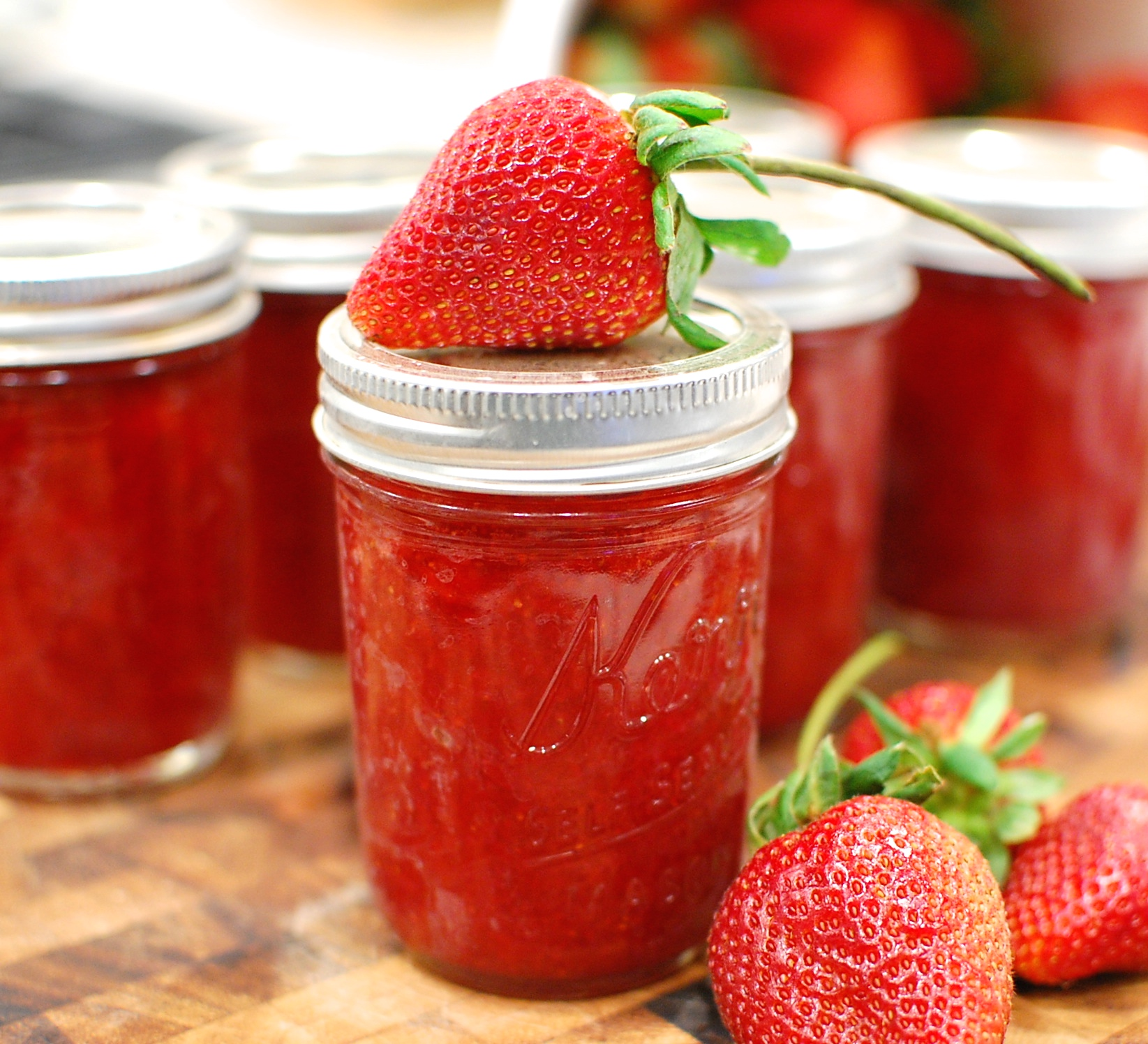 Low Sugar Fresh Strawberry Jam How To Make And Water Bath