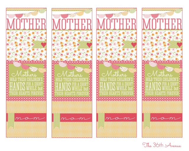 Handmade Gifts Mother S Day Bookmark The 36th Avenue