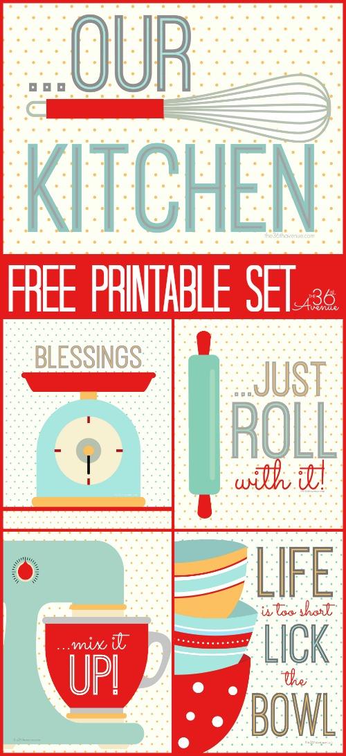 Printable Kitchen Art Set