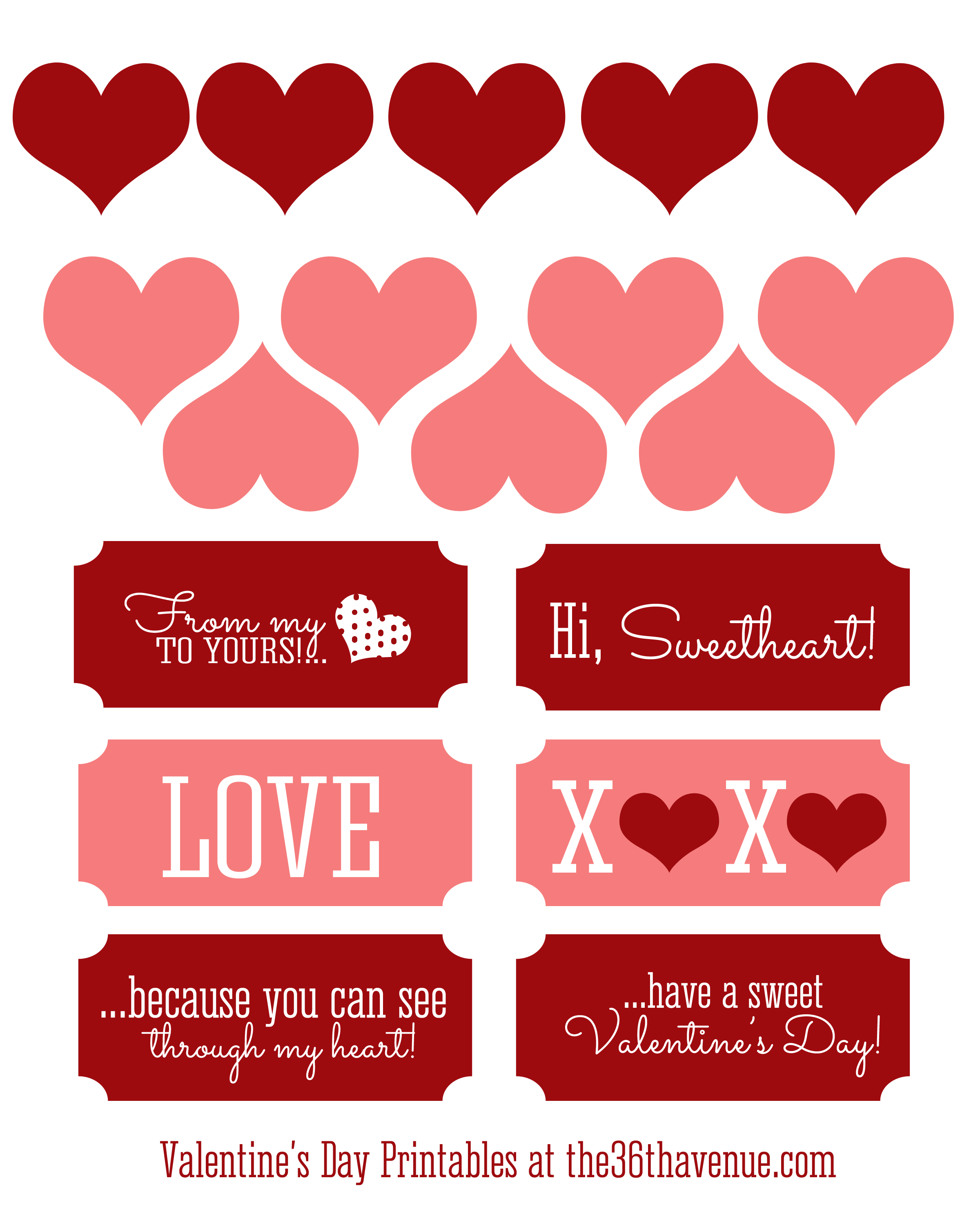 Free Valentine Printables And Candy Jar