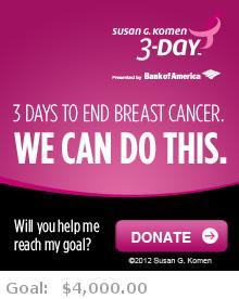 Help me reach my goal for the Susan G. Komen Boston 3-Day