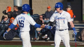 Panthers Split Double Header By Topping Army 5-2