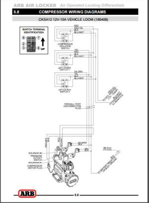 Shed Tech ARB Locker Wiring Diagrams
