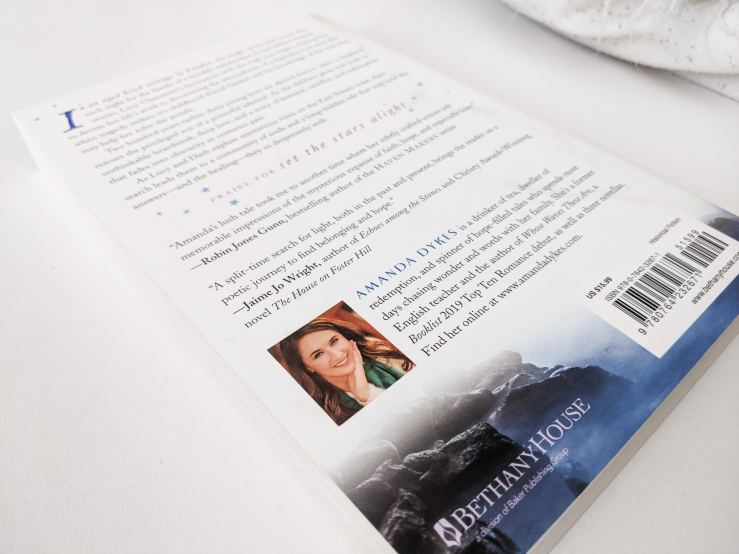 Set the Stars Alight back cover with image of author, Amanda Dykes