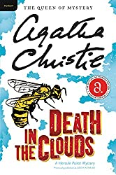 """Death in the Clouds cover -- a great mystery for the """"set on a form of transportation"""" prompt"""