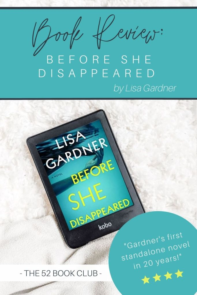 "Book review for ""Before She Disappeared"" by Lisa Gardner"