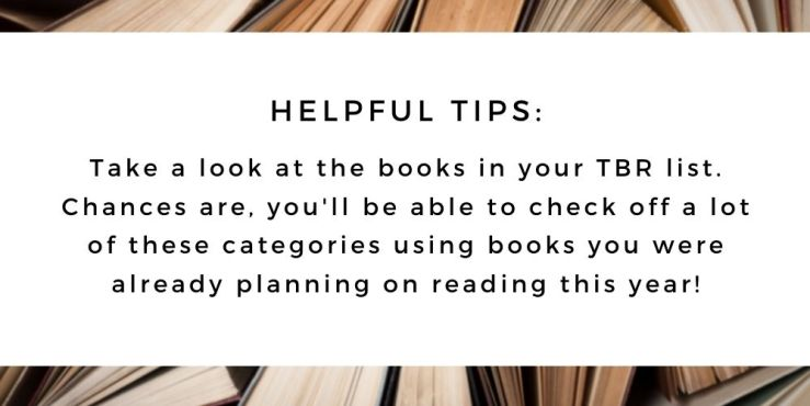The 52 Book Club 2021 guide, helpful tips: take a look at the books in your TBR.