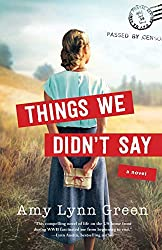 Things We Didn't Say book cover -- girl facing away holding letters