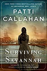 Surviving Savannah book cover with woman facing away