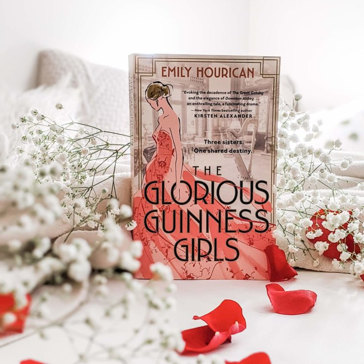 The Glorious Guinness Girls book set amidst flowers