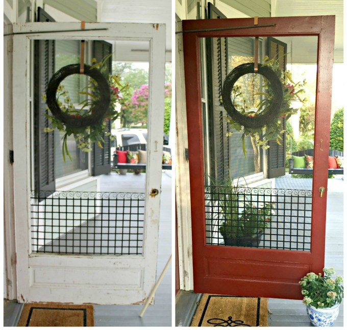 How To Re-Screen a Door - 702 Park Project