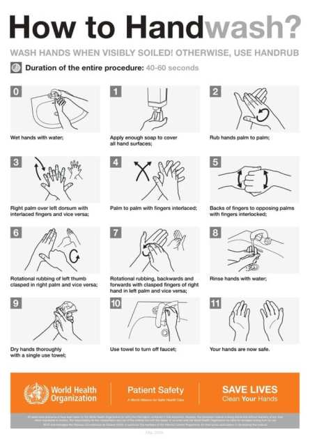 How to wash hands properly for the Safe Hands Challenge