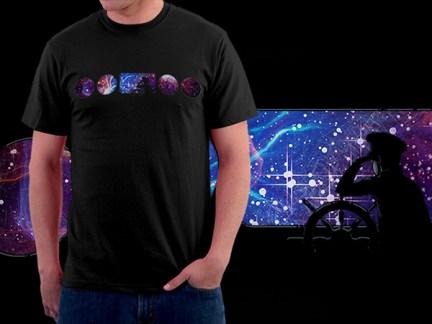 'Astronautical' T-Shirt Mockup Design & Illustration, 2012