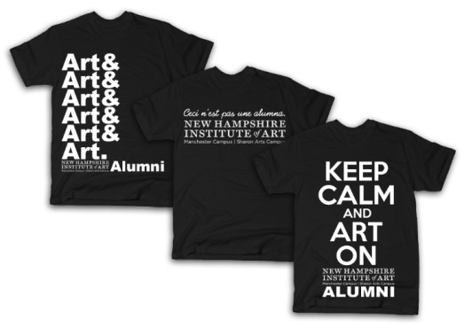 New Hampshire Institute of Art Alumni Shirt Designs, 2015