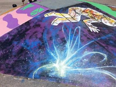 Nebula detail on space pyramid