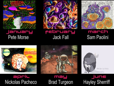 January through June 2014 Artists