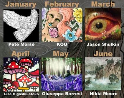 January through June 2017 Artists