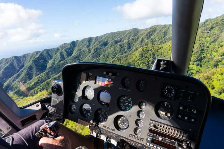 Island Helicopters review- Helicopter rides over Kauai, Hawaii
