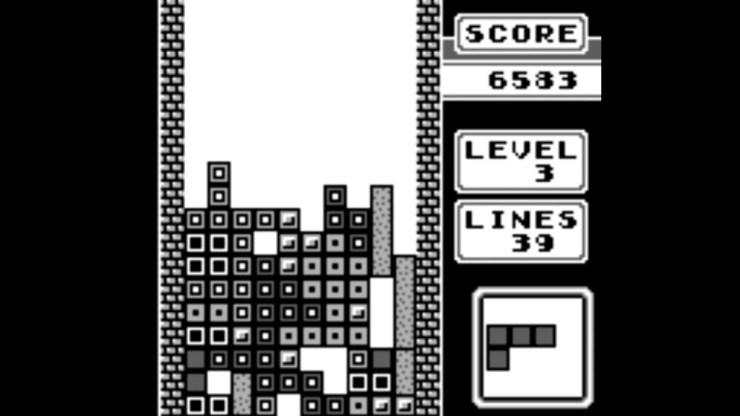 Tetris on Gameboy