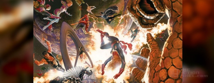 Secret Wars #1 cover art by Alex ross. THE ACTION PIXEL @theactionpixel