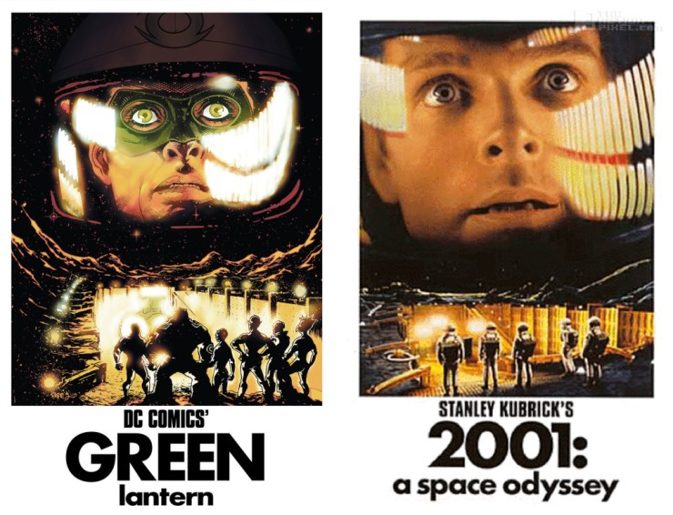 green lantern- 2001: a space odyssey dc comics variant cover. The Action Pixel. @TheActionPixel