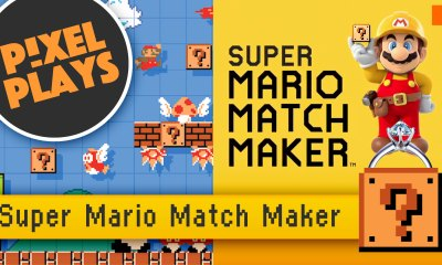 pixel plays. super mario match maker. nintendo. entertainment on tap. the action pixel. @theactionpixel