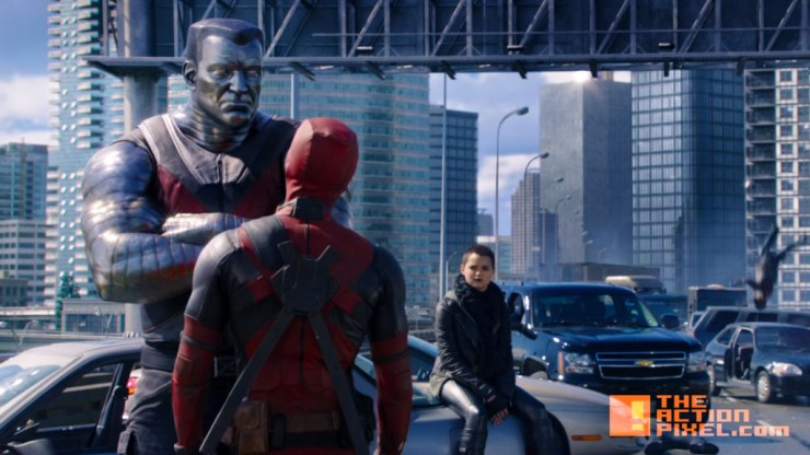 deadpool colossus. deadpool. marvel. 20th century fox. the action pixel. @theactionpixel