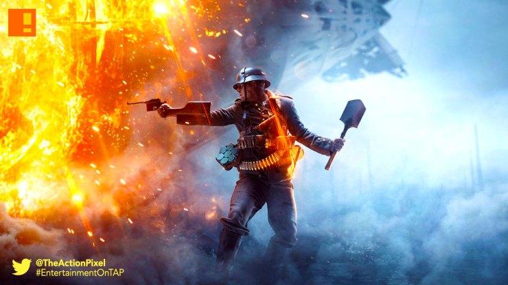 battlefield 1, trailer, dice, ea, the action pixel, entertainment on tap