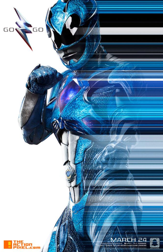 power rangers, saban, lionsgate, the action pixel, entertainment on tap, blue power ranger, zord, trini