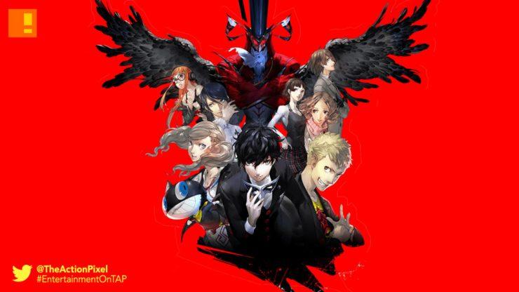 persona 5, sega ,atlus, take your heart, the action pixel, entertainment on tap, p studio, game mechanics trailer, anime