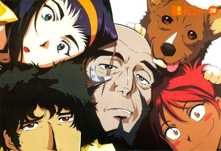COWBOY BEBOP, Shinichirō Watanabe, Jet Black, Spike Spiegel, Faye Valentine, Edward, EIN,THE ACTION PIXEL, ENTERTAINMENT ON TAP,