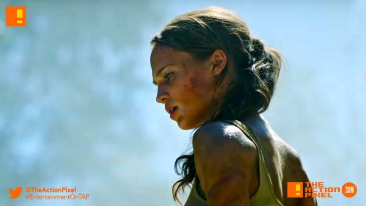bts, trailer, TOMB RAIDER, ALICIA vikander, lara croft, first look, entertainment on tap, the action pixel,